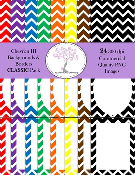 Chevron III Backgrounds and Borders CLASSIC Pack