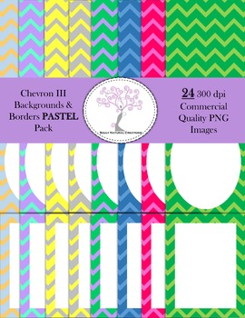Chevron III Backgrounds and Borders PASTEL Pack