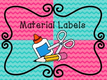 Chevron Labels for Back to School (Materials and Numbers 1-30)