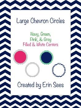 Chevron Large Circles - Editable