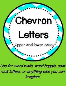 Chevron Letters Upper and Lower Case