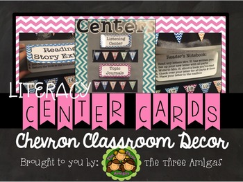 Chevron Literacy Center Direction Cards