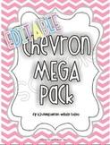 Chevron Mega Pack in Pastels {EDITABLE}