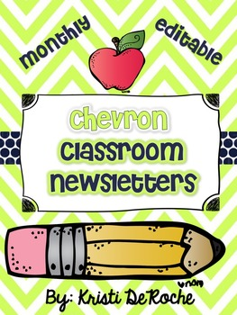 Chevron Monthly Newsletters- EDITABLE