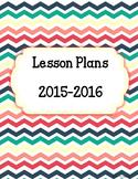Back to School Chevron Multi Color Lesson Plan Binder Cove