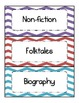 Chevron - Multicolored - Book Genre Labels and Posters