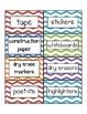 Chevron - Multicolored - Classroom Labels