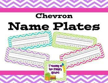 Chevron Name Plates (Editable)