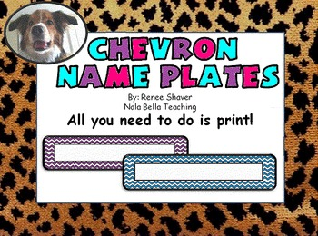 Chevron Name Plates