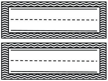 Chevron Name Plates- Black