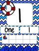 Chevron Nautical Number Posters 1-20