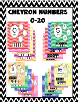 Chevron Number Charts 0-20