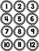 Chevron Number Circles Calendar - Back to School