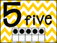 Chevron Number Posters 1-20 {Yellow}