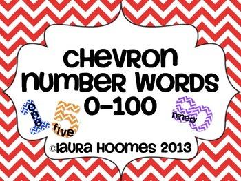 Chevron Number Words 0-1,000