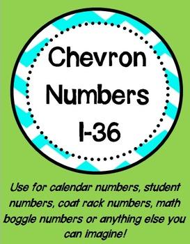 Chevron Numbers 1-36