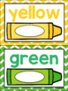 Numbers, Colors and Shapes Poster Set {Chevron Classroom D