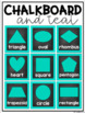 Numbers, Colors and Shapes Posters {Teal and Chalkboard Cl