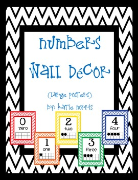 {Chevron} Numbers Wall Decor