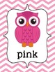 Chevron Owl Color Posters