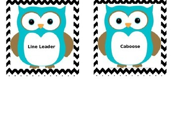 Chevron Owl Job Chart