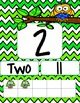 Chevron Owl Number posters 1-20