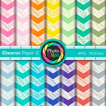 Rainbow Chevron Paper {Scrapbook Backgrounds for Worksheet