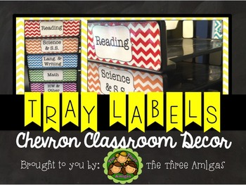 Chevron Paper Tray Labels
