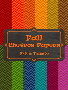 Chevron Papers ~ Fall Colors