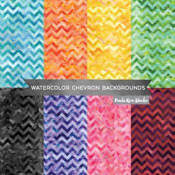 Chevron Pattern Watercolor Backgrounds