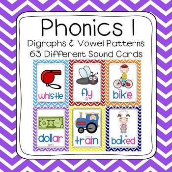 Chevron Phonics 1 Sounds Poster Set (63 sounds)