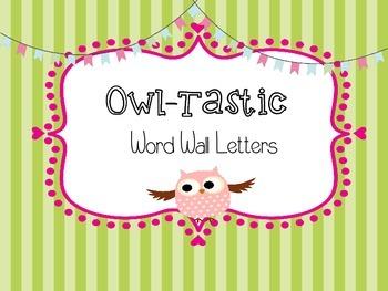Word Wall Letters - Chevron & Polka Dot