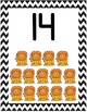 Black Chevron Posters Alphabet Numbers and Colors