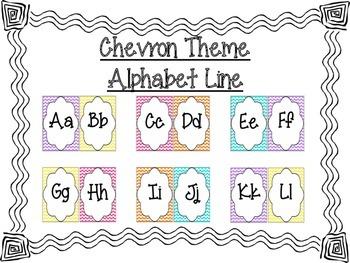 Chevron Print Alphabet Line