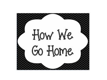 Chevron Print How We Go Home Chart
