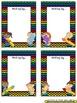 Name Plates for Student Work ~ Chevron Print Multi Color