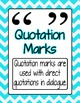 Chevron Punctuation Mark Posters