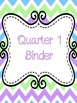Chevron Purple, Blue, and Green Binder Covers