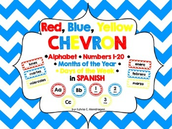 Chevron RBY Spanish ABC, Numbers 1-20, Days of the Week an