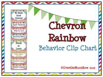 Chevron Rainbow & Banners Behavior Clip Chart