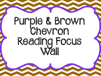 Chevron Reading Focus Wall Journeys based - Purple and Brown