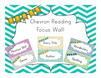 Chevron Reading Focus Wall/Board!