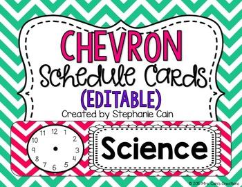 Chevron Schedule Cards (Editable)