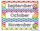 Chevron Schedule Cards