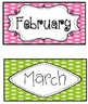 Chevron & Scribble Dot Calendar Set