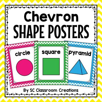 Chevron Shape Posters