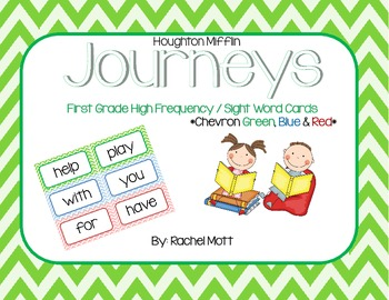 Chevron Sight Word / High Frequency Word Wall Cards for Fi
