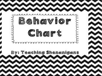 Chevron Simple Behavior Chart