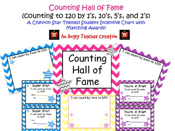 Chevron Skip Counting to 120 Hall of Fame Incentive Signs