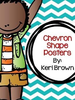 Chevron Smiley Shape Posters